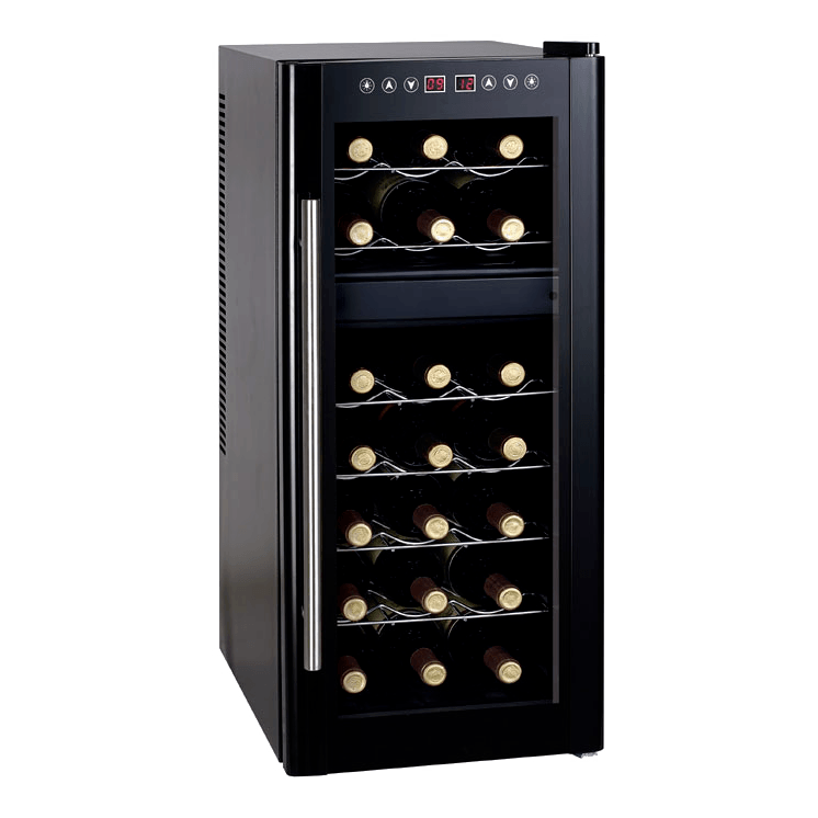 Sunpentown Dual-Zone Thermo-Electric Wine Cooler with Heating