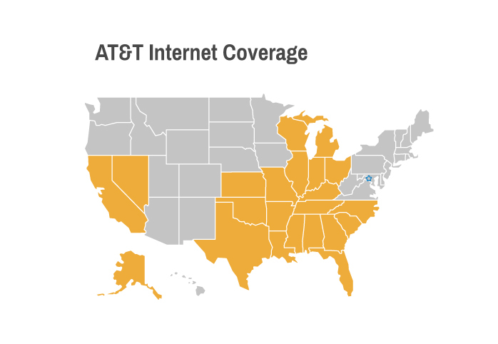 AT&T Internet Coverage Map US