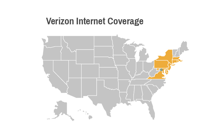 Verizon Internet Coverage Map US