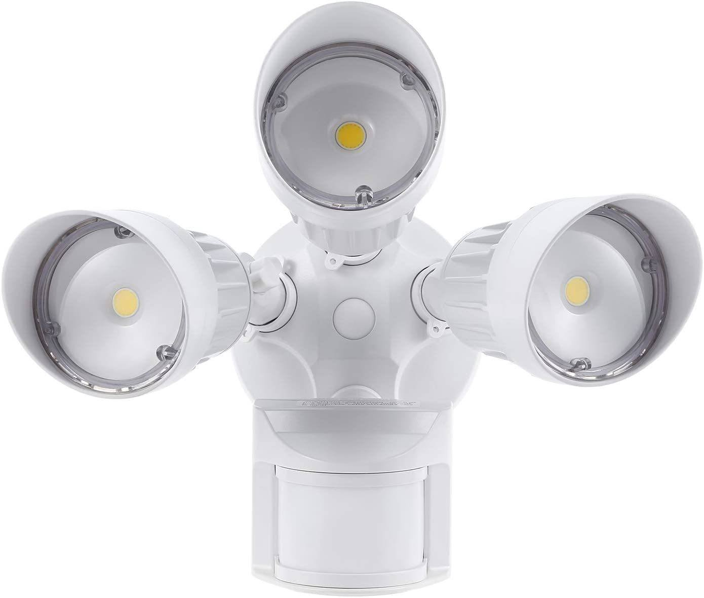 Image for LeonLite 30W 3-Head Motion Activated LED Outdoor Security Light
